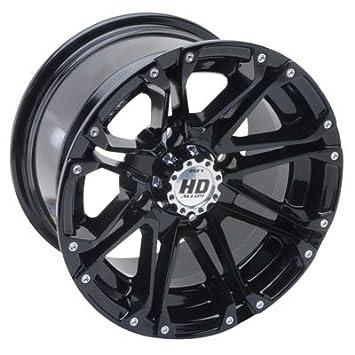 4//137 STI HD8 Alloy Wheel 14x7 5.0 2.0 Matte Black//Dark Grey for Honda Pioneer 1000-5 2016-2018