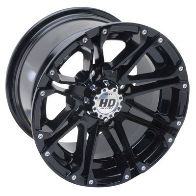 STI 4/110 HD3 Alloy Wheel 12x7 5.0 + 2.0 Gloss Black for Yamaha KODIAK 450 4x4 Auto 2003-2006 by STI (Image #1)