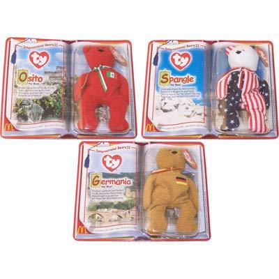 - Mcdonald's Teenie Beanie Babies 2000 International Bears II - Set of 3 - Osito, Germania and Spangle by Ty Beanie Babies