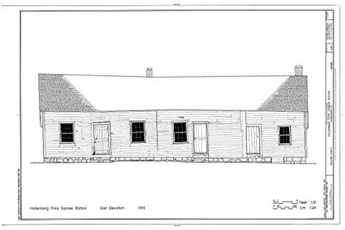 Structural Drawing HABS KANS,101-HAN.V,1- (sheet 4 of 10) - Hollenberg Pony Express Station, Route 243, 6.9 miles south of Nebraska border, Hanover, Washington County, KS 66in x 44in (Pony Express Route)
