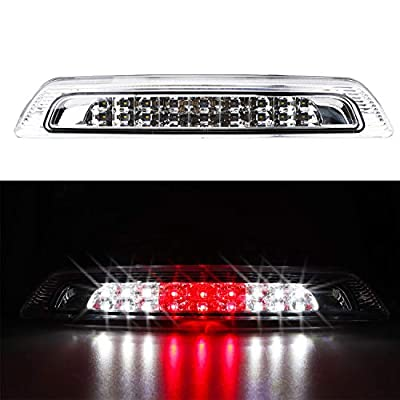 For 2007-2020 Toyota Tundra LED 3rd Third Tail Brake Light/Cargo High Mount Lamp (Chrome Housing Clear Lens): Automotive