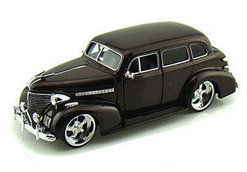 Deluxe Chevy Model (Jada 1939 Chevy Master Deluxe, Brown Toys Bigtime Kustoms 90224 - 1/24 scale Diecast Model Toy Car, but NO BOX)