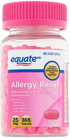 Allergy Relief Tablets Dphenhydramin Equate