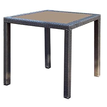 Amazonde Gartentisch Tisch Polyrattan Goldbraun Ca 80x80 Cm
