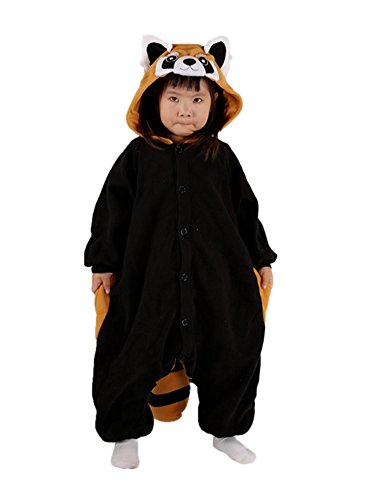 Lava-ring Baby Unisex Raccoon Cosplay Halloween Kids Costume 95# -