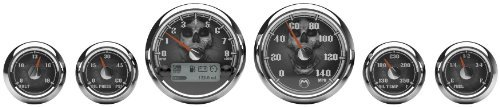 Medallion Premium Bagger Skulls Gauges for 2004-2013 FLH, FLT models - One Size by Medallion Instrumentations Bagger Gauges