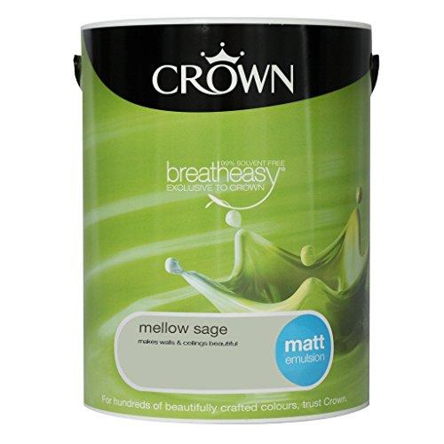 Crown Trade Mellow Sage 5L Matt Emulsion by CrownTradeÂ
