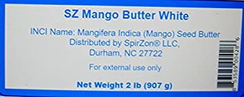 Mango Butter White Raw 2 Lbs