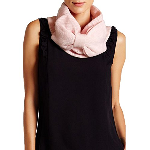 Kate Spade Women's Gathered Bow Neckwarmer Scarf (Pastry Pink)