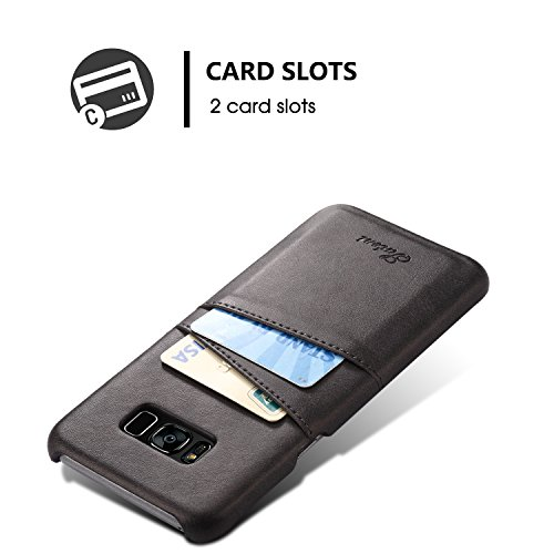 Samsung Galaxy S8 Wallet Phone Case, Slim PU Leather Back ...