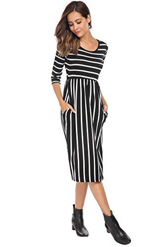 black maternity day dress - 2
