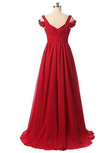 Off Épaule 2017 Robes De Demoiselle D'honneur Robes Longues De Soirée De Mariage D'ivoire « Fanciest Femmes