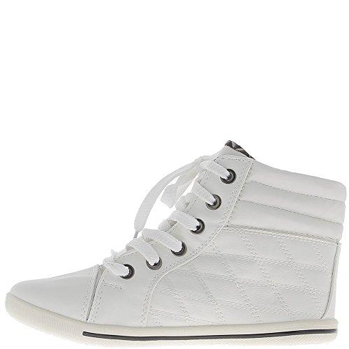 Zapatillas mujer blanca subiendo y forrado acolchada