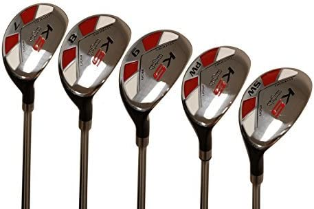 Majek Senior Men s Golf All Hybrid Partial Set, which Includes 7, 8, 9, PW SW Senior Flex Right Handed New Utility A Flex Club
