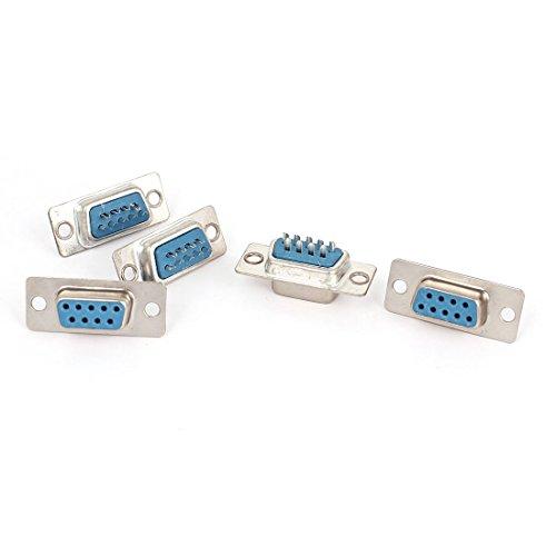 (Uxcell 5 Pcs RS232 DB9 9 Pin Female Plug Connector VGA Socket Adapter)