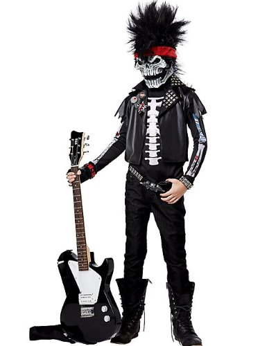 [California Costumes Dead Man Rockin Child Costume, X-Large] (Rocker Costume For Boys)