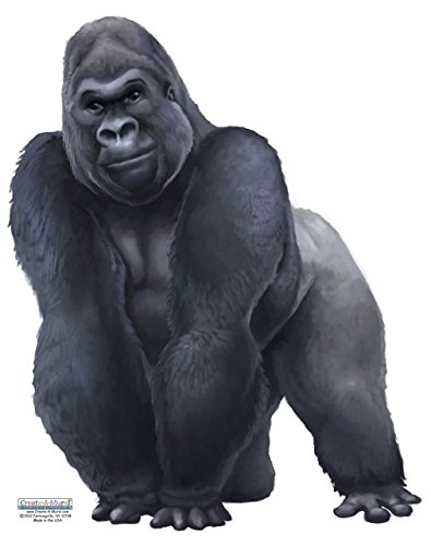 Hand Painted Wall Mural - Create-A-Mural Gorilla Wall Decal ~Hand Painted Looking Vinyl Peel & Stick