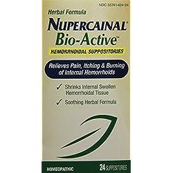 Nupercainal Hemorrhoidol Bioactive Suppository-Lanolin/Petrolatum jelly, Pale Yellow-24 ct