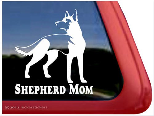 Shepherd Mom ~ German Shepherd Dog Vinyl Window Decal Sticker