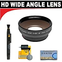 0.5x Digital Wide Angle Macro Professional Series Lens+ Lenspen + 5 Pc Cleaning Kit + DB ROTH Micro Fiber ClothFor The JVC GR-DVM55U, DVM70U, DVM80U, DVM96U, DX77, DX95, DX300 Mini Dv Camcorders
