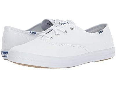 Keds Women's Champion Original Canvas Sneaker (37 M EU/6.5 B(M) US, White/Canvas)