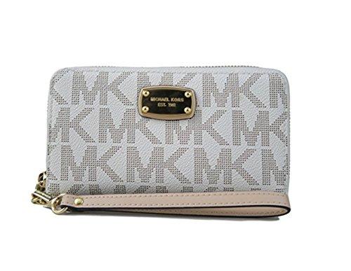 Michael Kors Large Flat Multifunction Phone Case Wristlet Wallet in Vanilla by Michael Kors