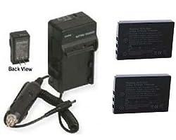 2 Klic-5001 Batteries + Charger For Kodak Dx-6490 Dx-7590, Kodak P712 P850, Kodak P880, Kodak Z7590