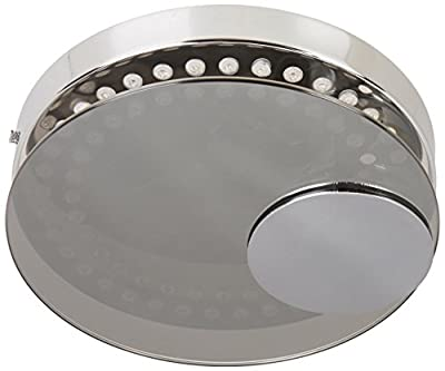 Lite Source LS-5427 LED Flush Mount with Glass Diffuser, Chrome Finish