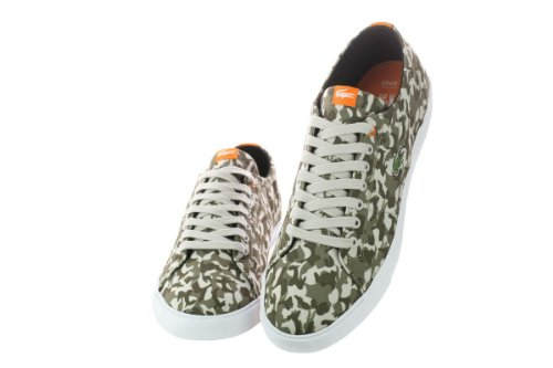 Lacoste Mens Marcel Cam Khaki / Orange 10,5 D