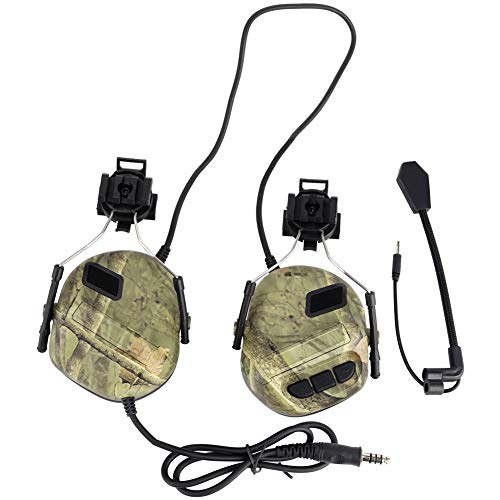 Tactical Headset Hunting Airsoft Helmet Noise Reduction Headphone Military Shooting Ear Protection Radio Earphones