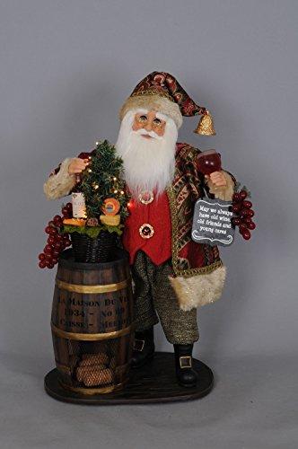 Karen Didion Wine Santa - Karen Didion Originals Lighted Wine Barrel Santa