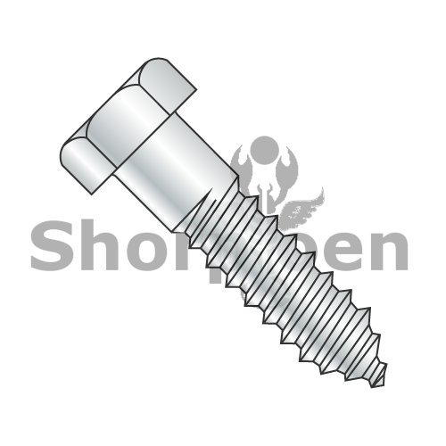 Hex Lag Screw Zinc Gimlet Point 1/2 x 2 1/4 BC-5036L (Box of 200) Weight 25.2 Lbs