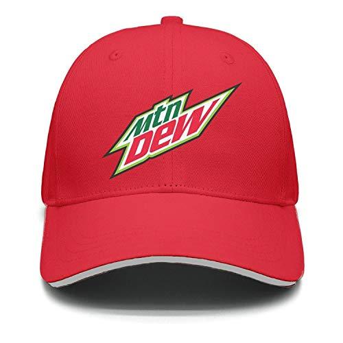 (AINIJIAJ Men/Women Print Adjustable Mountain-Dew-Drink-Logo- Low Profile Mesh Snapback Cap)