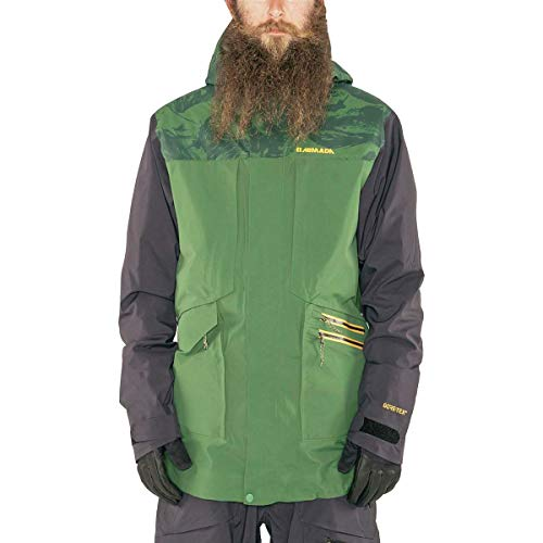 Armada Lifted Gore-Tex 3L Jacket - Men's Forest Green Marble, L
