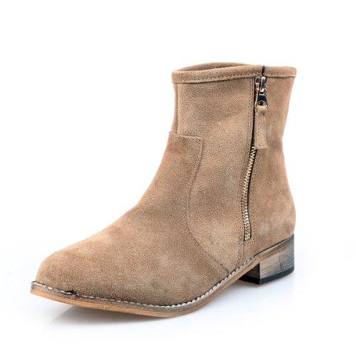 Alexis Leroy - Botas de tobillo de alta calidad - estilo elegante para mujer marrón