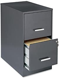 Lorell 16871 2 Drawer File Cabinet, 22 Inch