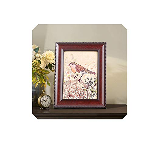 - Vintage Chinese Style Picture Frame Rectangle Photo Frames for Hallway Bedroom Living Room Party Decor Marcos para fotos,Chocolate,5 inch