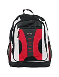 TRAILMAKER Multi-Compartment Backpack School Bag RED