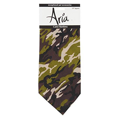 - Aria Camouflage Dog Bandana, Green Camo