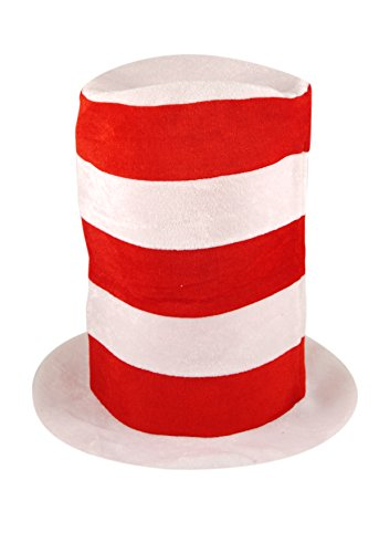 (Children's Red & White Tall Hat Book Day Fancy Dress Cat)