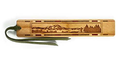 Mountain Hiker Engraved Wooden Bookmark on Cherry with Tassel - Search B071KW377W to see personalized version. (Tent Engraved)