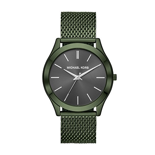 Michael Kors Men's 'Slim Runway' Quartz Stainless Steel Casual Watch, Color:Green (Model: - Michael Shops Kors