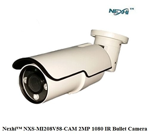 Nexhi NXS-MI208V58-CAM 2MP 1080 IR Bullet Camera with 2.8-12MM Lens, 3PC 3G IR Leds and POE Built In