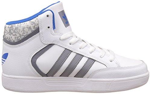 adidas Varial Mid J, Zapatillas de Gimnasia Unisex-Niños Blanco (Ftwr White/grey/bluebird)