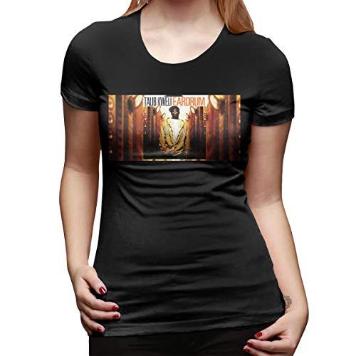 SY COMPACT Women Talib Kweli Fashion Short Sleeve Shirts Black