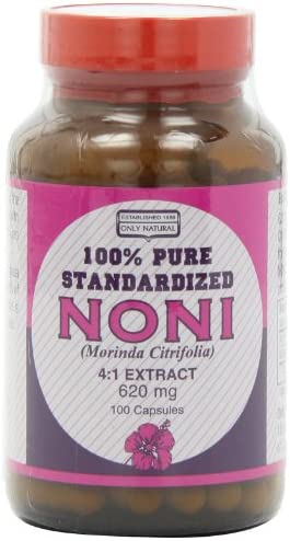 Only Natural Noni 4 1 Extract 620 Mg. , 100-Count