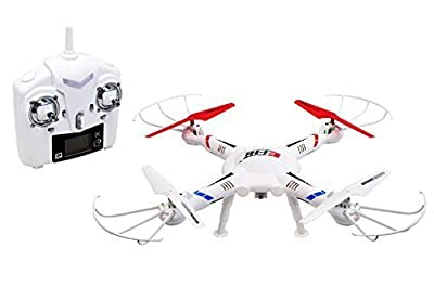 Ei-Hi Large Size S800C 2.4GHz 4 Ch 6 Axis Gyro Rc Remote Control Quadcopter Ufo Drone with Hd Video/Picture Camera (White)