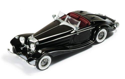 1/43 メルセデスベンツ 540K スペシャルロードスター ブラック/レッドインテリア MUS001