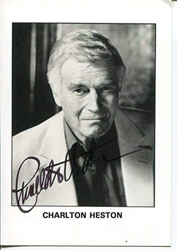 Charlton Heston Ben Hur Planet of the Apes Touch Of Evil Signed Autograph Photo
