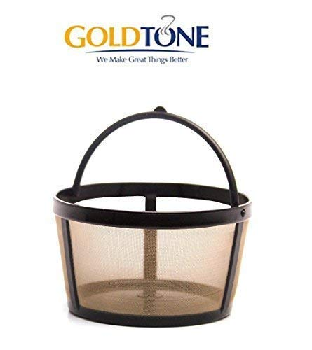 GOLDTONE Reusable 4 Cup Basket Mr. Coffee Replacement Coffee Filter - Mr. Coffee Permanent Coffee Filter for Mr. Coffee Maker and Brewer (Best Reusable Coffee Filter)
